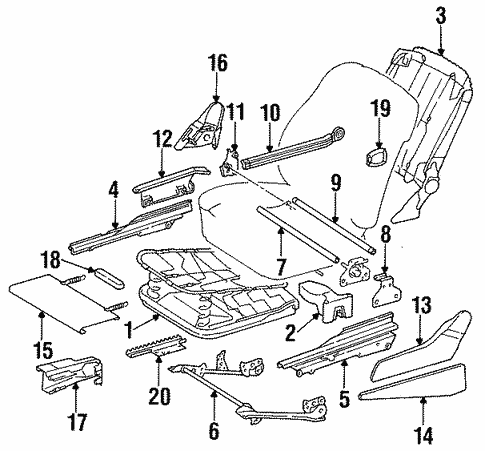 Seat Components for 1994 Mercedes-Benz E 320 #0