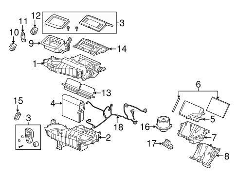 OEM 2006    Pontiac       Grand       Prix    Evaporator      Heater    Components