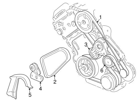 belts \u0026 pulleys for 2004 pontiac bonneville (gxp) gmpartsnow Diagram of 3800 Pontiac Engine