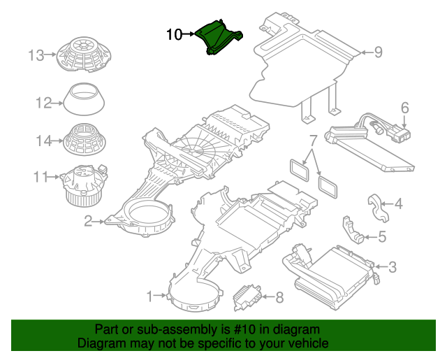 air chamber assembly - ford (dv6z-18471-a)