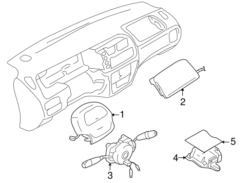Air Bag Components For 2003 Chevrolet Tracker