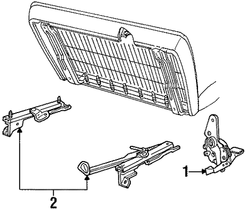 Body/Seat Components for 1997 Ford Ranger #1