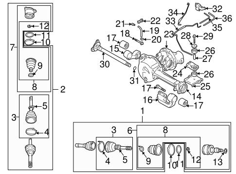 Front Axle & Carrier for 2001 Suzuki Vitara   World OEM Parts SubaruWorld Suzuki Subaru Parts - World OEM Parts