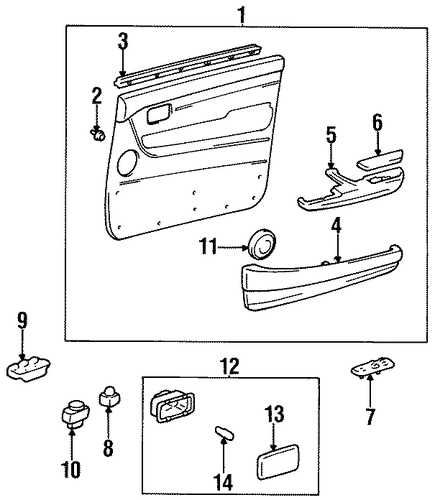 ELECTRICAL/DOOR for 1996 Toyota Land Cruiser #1
