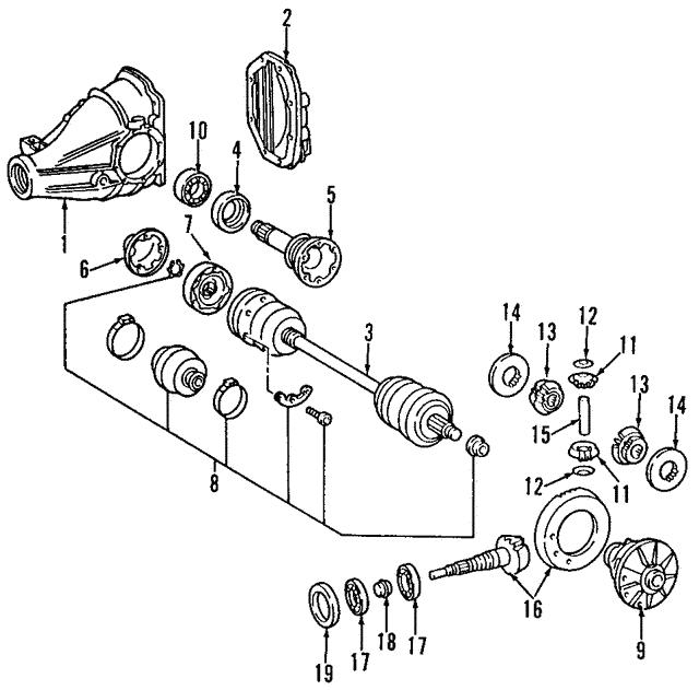 mercedes benz pinion bearing 000 980 09 02 mb oem parts 2000 CLK 430 AMG Specs pinion bearing mercedes benz 000 980 09 02