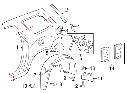 2014 Gmc Acadia Exhaust System Diagram