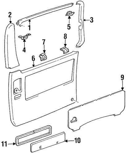 Upper Trim Panel Upper Bracket