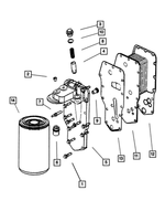 Oil Filter Head - Mopar (5014193AA)