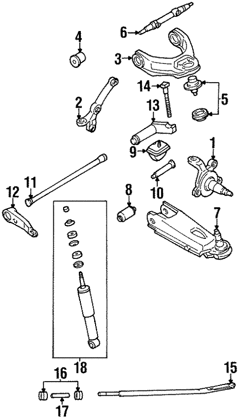 Front Suspension/Suspension Components for 1994 Nissan D21 #2