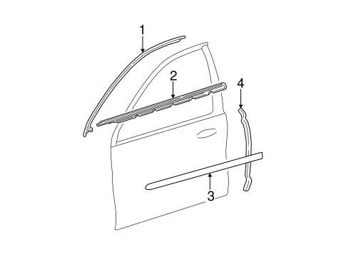 Body/Exterior Trim - Front Door for 2001 Ford Taurus #1