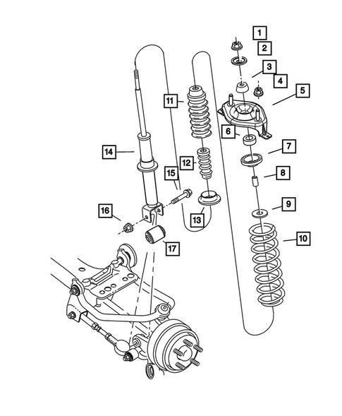 Rear Suspension for 2004 Chrysler Sebring   VictoryMoparPartsVictory Motors Parts