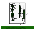 Shock Absorber Assembly, Rear - Honda (52610-SDP-A12)