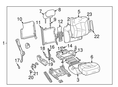 Front Seat Components For 2003 Chevrolet Silverado 3500