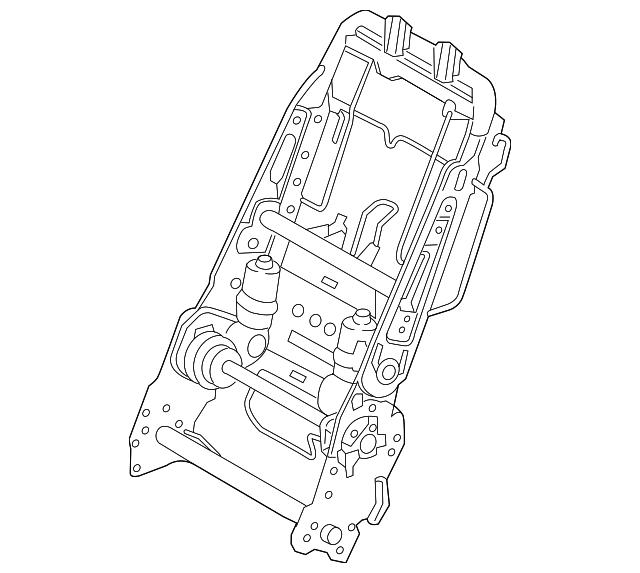 2016 2018 Lexus Seat Back Frame 71018 0e100
