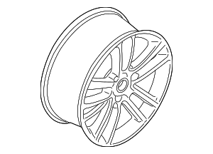 Wheel, Alloy - Ford (KR3Z-1007-C)