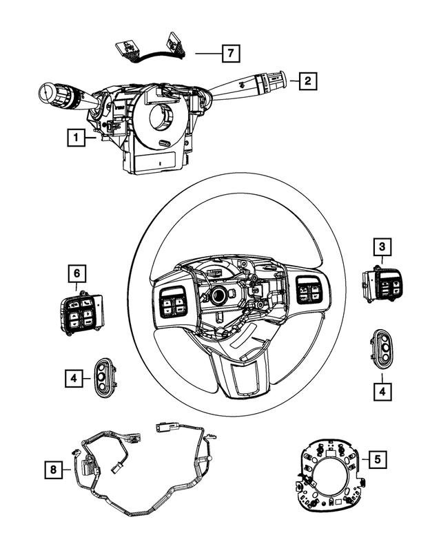 Genuine Chrysler 68015102AF Multifunction Switch