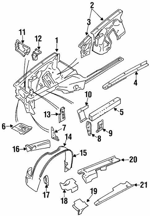 Structural Components Rails For 1997 Jaguar Xjr