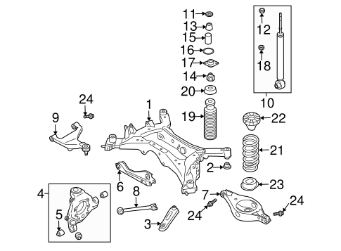 Rear Suspension/Rear Suspension for 2007 Nissan Murano #3