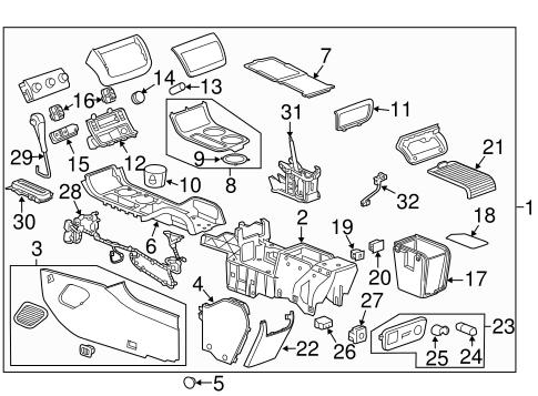 traverse engine diagram center console for 2012 chevrolet traverse gm parts department  2012 chevrolet traverse
