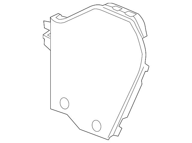 2009 2017 Chevrolet Traverse Extension Panel 25876003