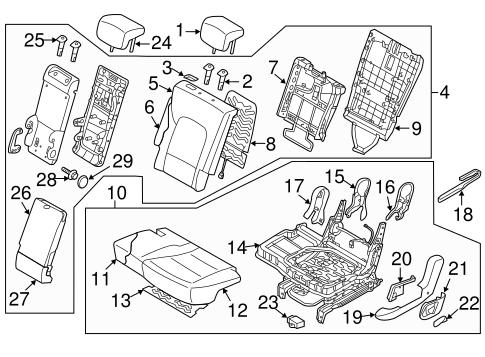 Left Genuine Hyundai 89150-2B000 Seat Cushion Pad Assembly