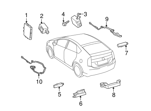 ELECTRICAL/KEYLESS ENTRY COMPONENTS for 2015 Toyota Prius Plug-In #1