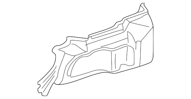 2002 Honda Civic Sedan Lining L Trunk Side Nh167l Graphite Black