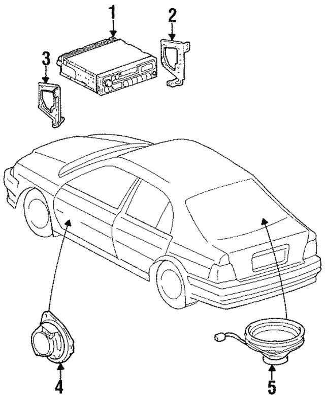 1995 1998 Toyota Amfm Radio Mount Bracket 86212 16260