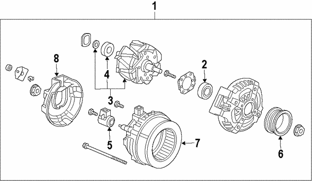 Alternator Assembly (CSK52) (Denso) - Honda (31100-RV0-A12)