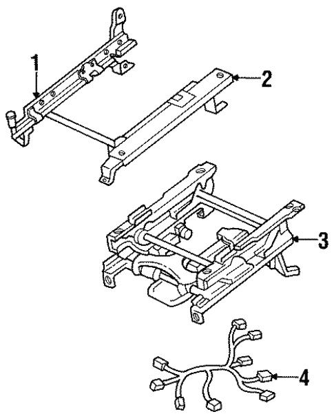 Tracks & Components for 1995 Isuzu Trooper #1