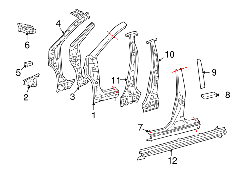 BODY/CENTER PILLAR & ROCKER for 2012 Toyota Corolla #1
