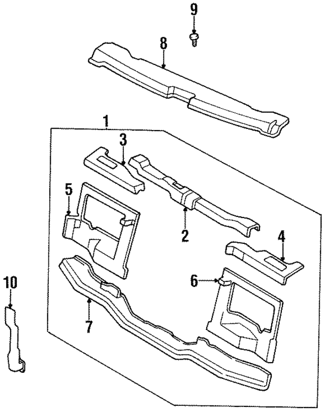 Radiator Support - Kia (0K01F-53100B)