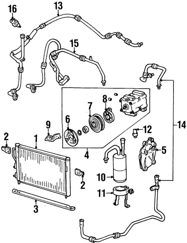 1999 2003 Ford Compressor Bracket F8rz 19d624 Aa
