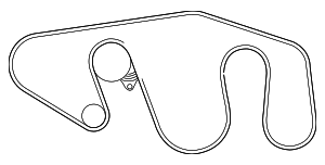 Serpentine Belt - Nissan (11720-7S00A)