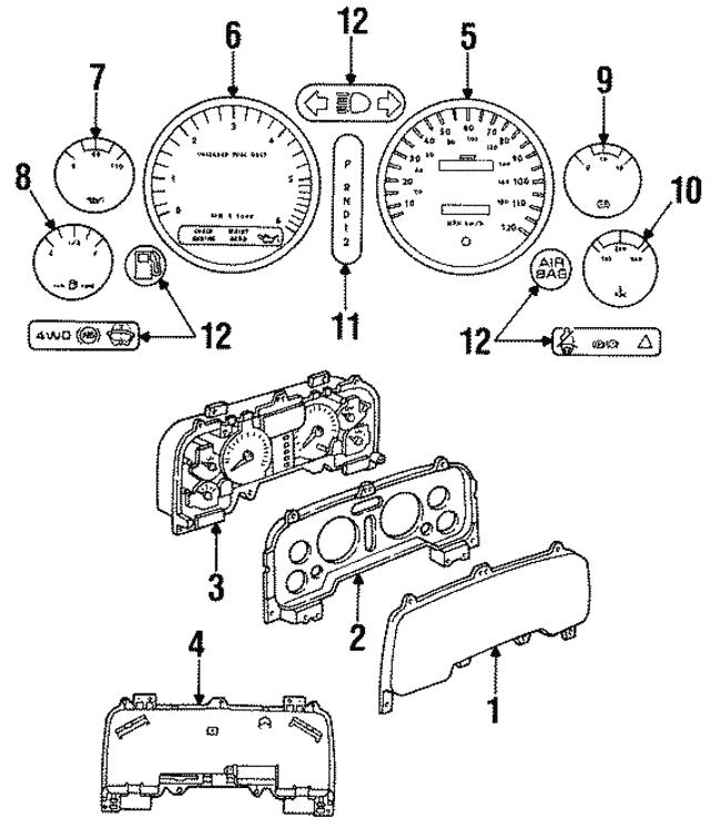 1994 1997 Dodge Circuit Board 4723750
