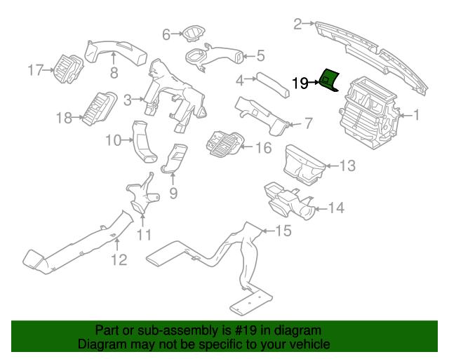 2011 ford taurus engine diagram ford taurus dashboard air vent ford  bg1z 54046a76 aa  ford taurus dashboard air vent ford