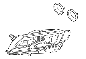 Composite Assembly - Volkswagen (3C8-941-040-F)