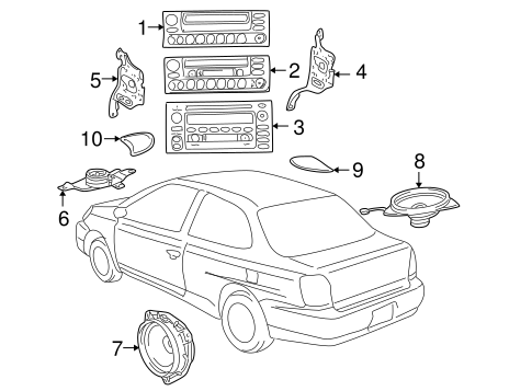 BODY/SOUND SYSTEM for 2000 Toyota Echo #1