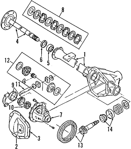 Universals & Rear Axle/Rear Axle for 1998 Ford E-250 Econoline #1