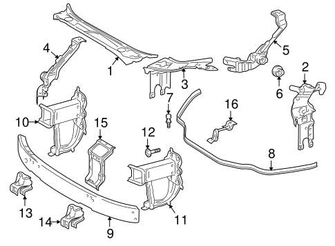 Radiator Support for 2007 Mercedes-Benz E 320 #0