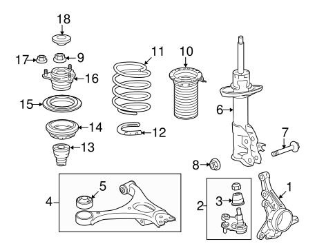 Bearing, Front Shock Absorber