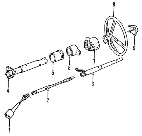 1990 gmc steering column diagram steering column for 1990 chevrolet c1500 | gmpartsoutlet.net