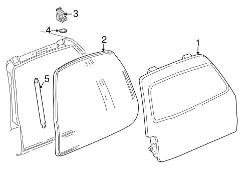 liftgate for 2003 lincoln aviator. Black Bedroom Furniture Sets. Home Design Ideas