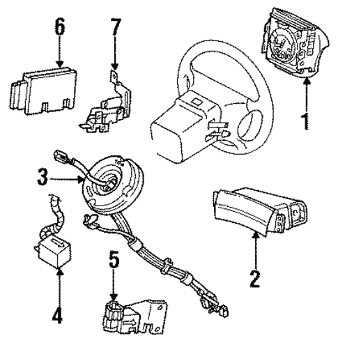 Air Bag Components For 1997 Lincoln Mark Viii