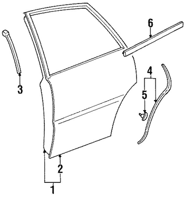1995 1999 Toyota Avalon Door Shell 67004 07010