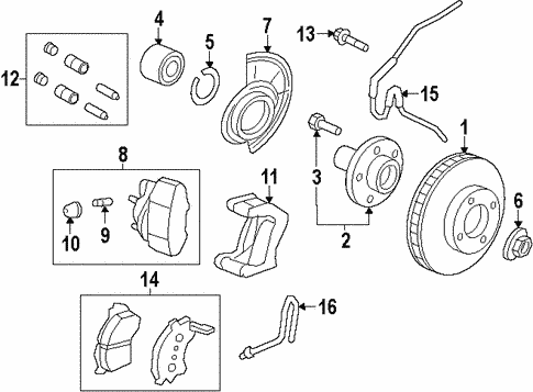 Brakes/Front Brakes for 2009 Ford Escape #1