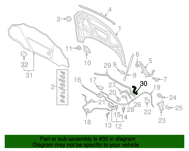 Audi Tt Quattro Seal Strip 8s0 823 721 Oemaudiparts