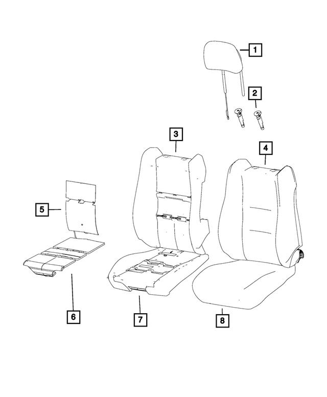 Headrest Front MOPAR 5RX96DX9AA