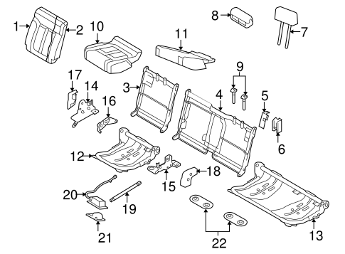 Body/Rear Seat Components for 2014 Ford F-150 #3