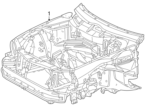 Inner Structure for 2003 Mercedes-Benz CLK 430 #1